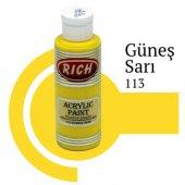 Rich Akrilik Ahşap Boya 113-Güneş Sarı 130 cc-4