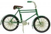 Dekoratif Metal Yeşil Bisiklet