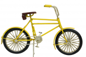 Dekoratif Metal Sarı Bisiklet