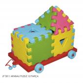 Lp 5011 King Kids Eğitici Arabalı Puzzle