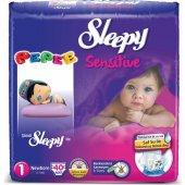 Sleepy Jumbo No:1 2-5Kg 40lı Sensitive Bebek Bezi-2