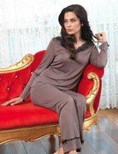 şahinler Bayan Pijama Takımı Vizon Mbp23115 2