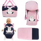 Tavşan Pembe 4 Lü Bebek Taşıma Kanguru Portbebe...