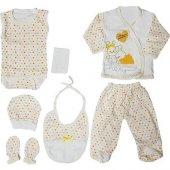 Chery Sarı 7li Bebek Hastane Çıkış Seti