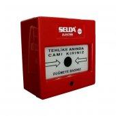 Selda Yangın Alarm İhbar İkaz Butonu Acil Durum Butonu 220 V
