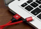 Baseus Yiven Kablo  Micro 1,5M Kırmızı-2