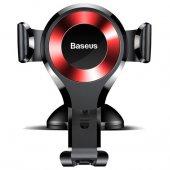 Baseus Osculum Type Gravity Araç Tutucu Siyah+kırmızı