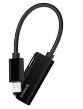 Baseus İphone Male To İp+ip Female Adapter L37 Siyah