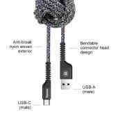 Baseus Confidant Kırılmaz Kablo Type C 2,4a 1,5m Siyah