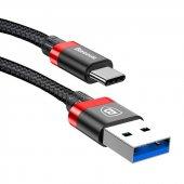 Baseus Golden Belt Serisi Usb 3,0 Kablo Type C Siyah+kırmızı