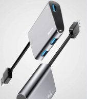 Baseus Enjoyment Serisi Usb To 3xusb 3,0 Hub Adapter Koyu Gri