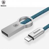 Baseus Ring Kablo Lightning (Chrome+ Mavi)-2