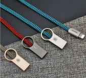 Baseus Ring Kablo Lightning (Chrome+ Mavi)-3