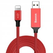 Baseus Yiven Kablo Apple 3m Kırmızı
