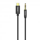 Baseus Yiven Type C Male To 3,5 Male Audio Kablo M01 Gold+siyah