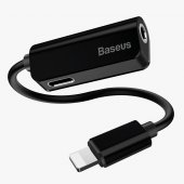 Baseus L32 İphone Male To 3,5mm+iphone Female Adapter Siyah