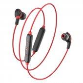 Baseus 91 Encok Magnet Kablosuz Kulaklık S04 Siyah Kırmızı