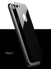 Baseus İphone 7 İphone 8 3d Silk Screen Arka Koruyucu Cam Siyah