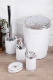 ındecor Akrilik 5 Parça Banyo Seti Kar Beyaz