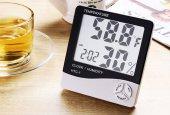 Masaüstü Dijital Termometre Nem Ölçer Higrometre...