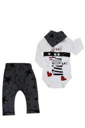 Miniworld Erkek Bebek 14321 Çizmeli Zebra Yıldızlı 3 Parça Takım