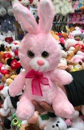 28cm Camgöz Tavşan Peluş Oyuncak Kaliteli Sağlıklı Peluşcu Baba