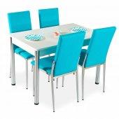 Evform Favorite 4 Kişilik Masa Sandalye Mutfak Masası Takımı - Tu