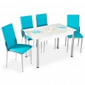 Evform Favorite 4 Kişilik Masa Sandalye Mutfak Masası Takımı - Tu-2