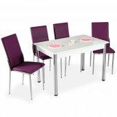 Evform Favorite 4 Kişilik Masa Sandalye Mutfak Masası Takımı - Mü-2