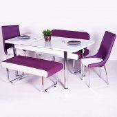 Renk Seçenekli Deri Sandalye Uzayan Masa Bank...