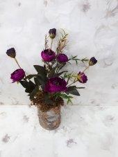 Yapay Çiçek Papatya Şakayık Gül Ağaç Tanzim