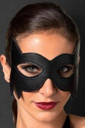 Siyah Deri Göz Maskesi