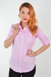 Inci Detaylı Pembe Kadın Gömlek