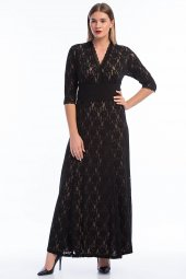 Kadın Büyük Beden Abiye Uzun Elbise KL16000-3