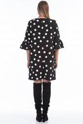 Büyük Beden Puantiyeli Elbise KL807-4