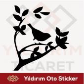 Ağaç Kuş Sticker Oto Sticker Arma Sticker