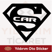 Süperman Car Oto Sticker Arma Sticker