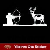 Av Geyik Ok Avcı Sticker,avcı Oto Sticker, Avcı Ar...