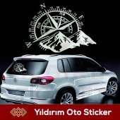 Pusula Dağ Off Road Oto Sticker, Araba Sticker Hediyeli Ürün