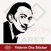 Salvador Dali Sticker Oto Sticker Arma Sticker