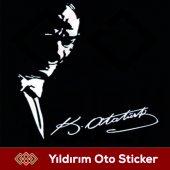 Mustafa Kemal Atatürk Sticker Hediyeli Ürün