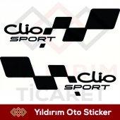 Renault Clio Sport Sağ Sol Takım Oto Stıcker Hediy...
