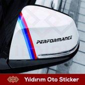 Bmw Performance Yan Ayna Sağ Sol Takım Sticker Kam...
