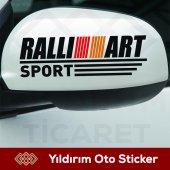 Rallıart Sport Yan Ayna Sağ Sol Takım Sticker Kampanyalı Ürün