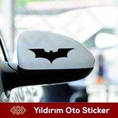 Batman Yan Ayna Sağ Sol Takım Sticker Kampanyalı F...