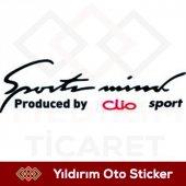 Sport Mind Clio Sticker