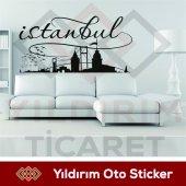 Türkiye İstanbul Şehir Silueti 1 Sticker