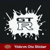 Gt R Uyarı Boya Sıçraması Sticker