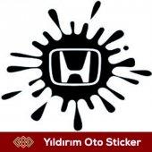 Honda Uyarı Boya Sıçraması Sticker