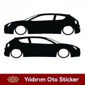 Alfa Romeo Yan Gölge Sticker